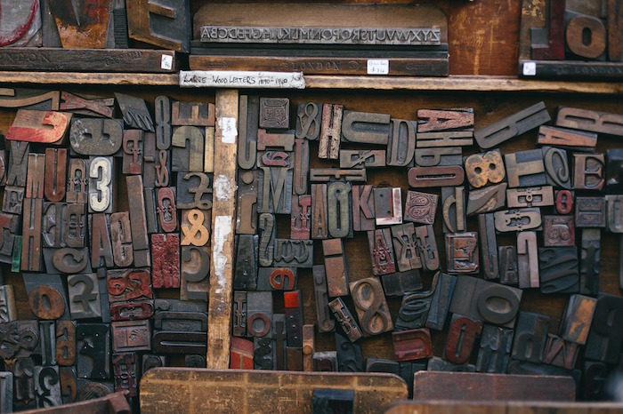 Woodtype letters