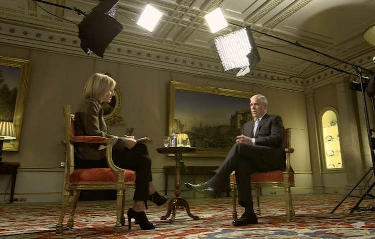 Newsnight presenter interviews Prince Andrew