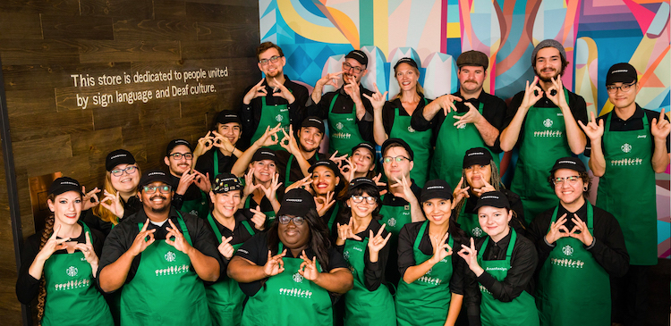 Starbucks staff take part in diversity training