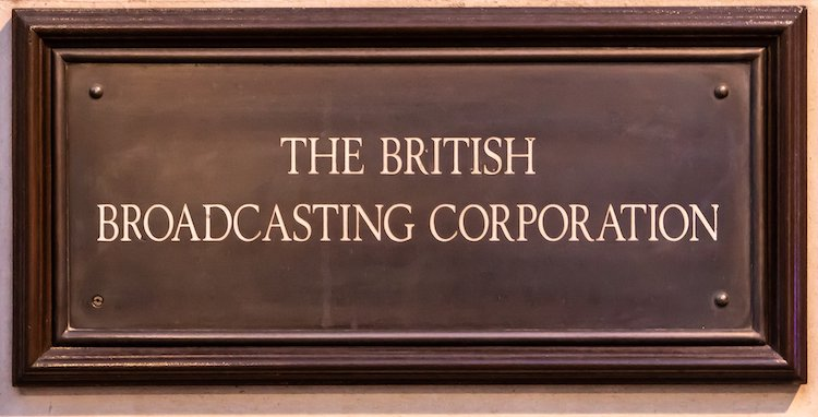 Old BBC sign